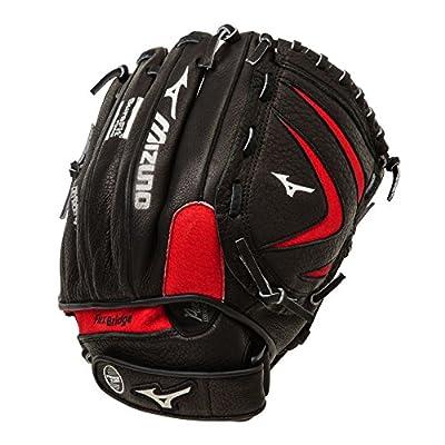 "Mizuno Youth GPT1150Y1 11.5"" Prospect Series Baseball Utility Glove - Black & Red"