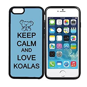 iPhone 6 (4.7 inch display) RCGrafix Keep Calm And Love Koalas 1 - Designer BLACK Case - Fits Apple iPhone 6- Protected Cell Phone Cover PLUS Bonus Iphone Apps Business Productivity Review Guide by supermalls