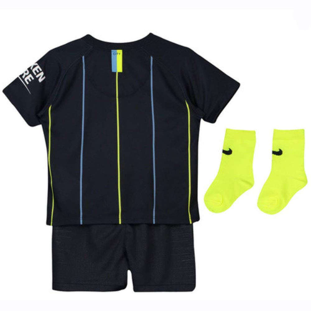 UKSoccershop 2018-2019 Man City Away Nike Baby 4) Kit (Vincent Kompany 4) Baby 3e297a
