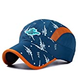 Home Prefer Kids Boys Lightweight Quick Drying Sun Hat Outdoor Sports UV Protection Caps Mesh Side Ball Cap Navy Blue