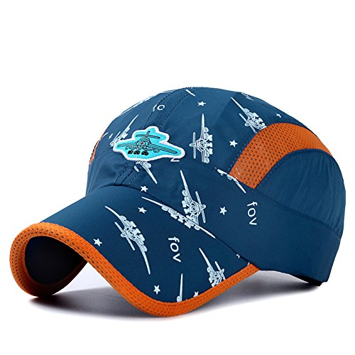 Home Prefer Kids Boys Lightweight Quick Drying Sun Hat Outdoor Sports UV Protection Caps Mesh Side Ball Cap Navy Blue ()