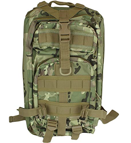 MR. TORCH Commandos Military 3D Tactical Backpack, 3P Shoulder Assault Bag 30L Molle System OCP Travel Bag Waterproof Outdoor Daypack Camping Hiking Hunting Climbing Fishing (Woodland Camo)