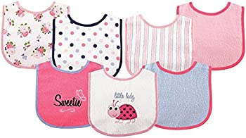 Luvable Friends 7-Piece Drooler Bibs with Waterproof Backing