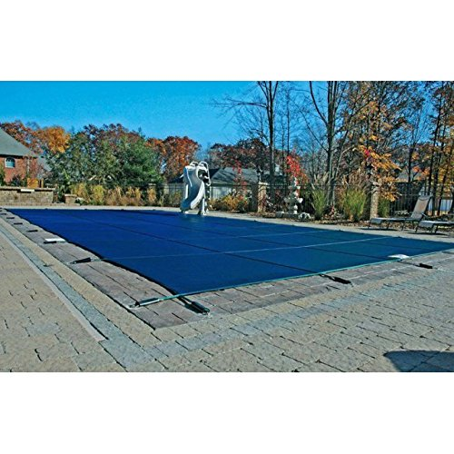 (16'x32' Blue Mesh Rectangle Inground Safety Pool Cover - 12 Year Warranty - 16 ft x 32 ft In Ground Winter Cover)