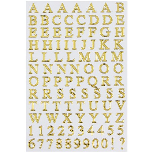 JAM Paper Self Adhesive Alphabet Letters Stickers - Gold - 2/pack
