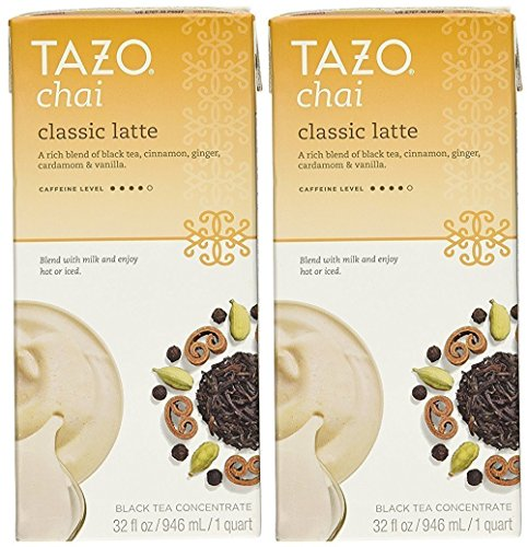 Tazo Chai Tea Latte Concentrate 32 Oz (2x32 Oz)