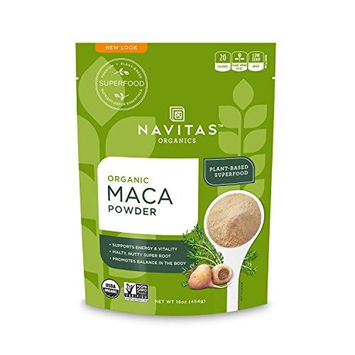 Maca Powder 16 Oz Bag (Navitas Organics Maca Powder, 16 oz. Bag — Organic, Non-GMO, Low Temp-Dried, Gluten-Free)