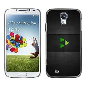 TopCaseStore / la caja del caucho duro de la cubierta de protección de la piel - Green Triangles - Samsung Galaxy S4 I9500