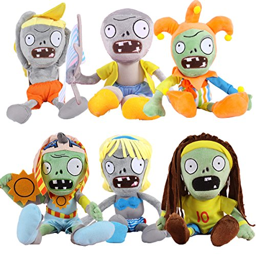 (TavasHome Plants vs Zombies 2 PVZ Figures Plush Baby Staff Toy Stuffed Soft Doll Lot 6pcs/Set)