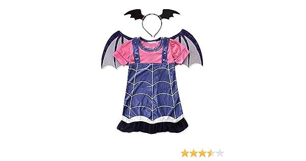 Disfraz de vampirina para bebé niña vampiro diadema alas tamaño ...