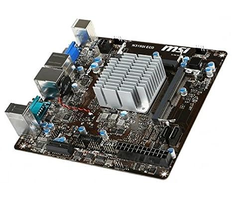 MSI 7890-004R - Tarjeta gráfica (N3150I Eco ITX Intel N3150 ...