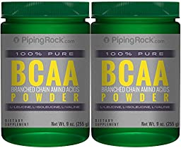 BCAA Powder (Branched Chain Amino Acids) 2 Bottles x 9 oz.