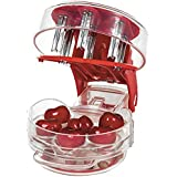 Cherry stoner remover multi Cherry pitter cherry stone seed Removal Core Easy Squeeze with Grip 6 cherries pitter red