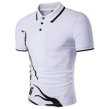Camisas Polo Hombre Verano Imprimir De Polo Solapa Modernas Casual ...