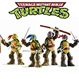 Vitadan Ninja Turtles 4 PCS Set - Teenage Mutant Ninja Turtles Action Figure - TMNT Action Figures - Ninja Turtles Toy Set - Ninja Turtles Action Figures Mutant Teenage Set