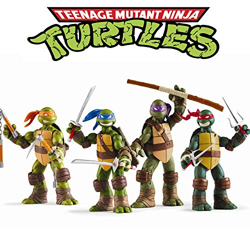 The Teenage Mutant Ninja Turtles (Vitadan Ninja Turtles 4 PCS Set - Teenage Mutant Ninja Turtles Action Figure - TMNT Action Figures - Ninja Turtles Toy Set - Ninja Turtles Action Figures Mutant Teenage)