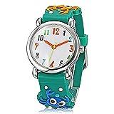 Fashion Brand Quartz Wrist Watch Baby Children Girls Boys Watch Crab Design Waterproof Watches