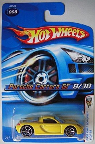 Mattel Hot Wheels 2006 First Editions 1:64 Scale Yellow Porsche Carrera GT Die Cast Car #008