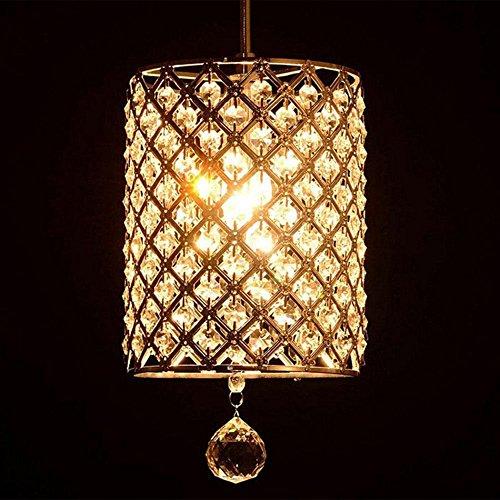 Modern Deckenlampe Moderne einfache K9 Kristallleuchter, Wohnzimmer Schlafzimmer Retro Fashion Deckenleuchte E14 Balkon Schlafzimmer