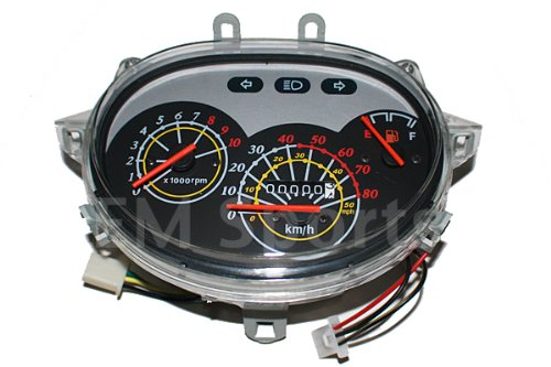 Gy6 Gas Scooter Moped Speedometer Light Gas Gauge 50cc Parts