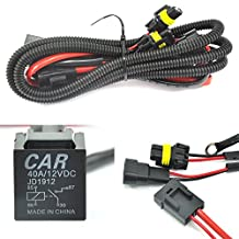 QUWEI Universal relay wiring harness for all HID single kit H1 H3 H4 H7 H8 H9 H10 H11 H13 9004 9005 9006 9007 5202 880 884