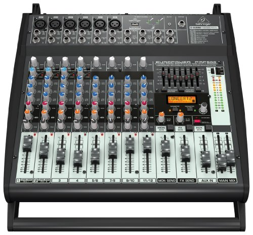 behringer-pmp500-500-watt-12-channel-powered-mixer-with-klark-teknik-multi-fx-processor-compressors-