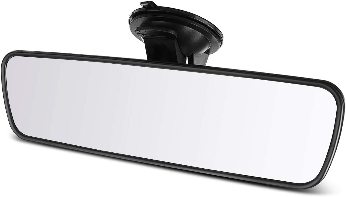 240mm ELUTO Rear View Mirror Anti-Glare Mirror Universal Interior Rearview Mirror with Suction Cup for Car Truck SUV 9.5/'/'