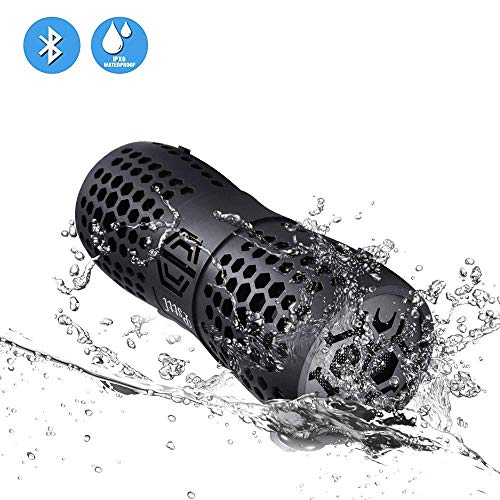 proof Bluetooth Outdoor Wireless Portable Shower Speaker up to 6 Hours Playtime Superior Sound for Camping Beach Sports Kayaking Pool Party ()