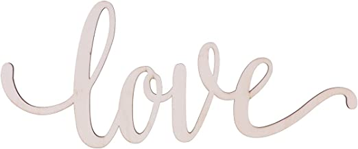 Wall Art Wooden Sign Love Plaque Home Decor Cut Out Wall Hanging,Unfinished
