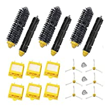 Theresa Hay Replacement 6x HEPA Filter + Side Brush Kit +3 Bristle and Flexible Beater Brush for iRobot Roomba 700 Series 760 770 780 790 Vacuum Cleaner Accessories