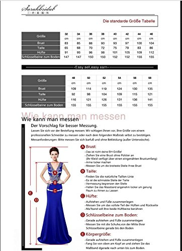 Sarahbridal - Vestido - trapecio - Sin mangas - para mujer morado
