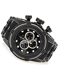 New Invicta 17836 Reserve 52mm Men's Jason Taylor Bolt Zeus Swiss Quartz Chronograph Gunmetal Stainless Steel Case Black Strap Watch