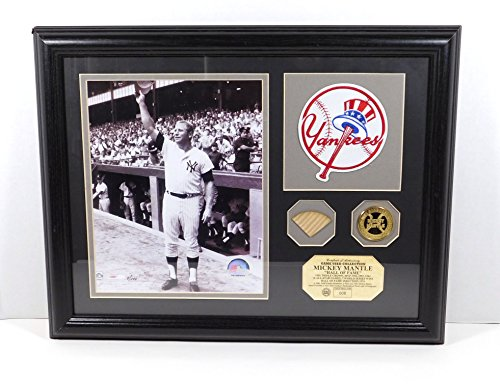 Highland Mint Mickey Mantle Photo Patch Coin and Game Used Bat Framed DA025192