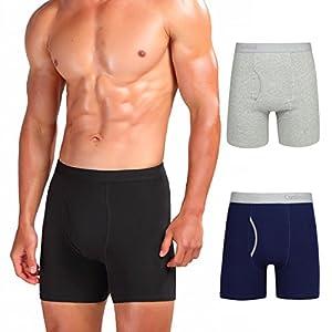 Comfneat Men's Boxer Briefs 3/6-Pack S-XXL Tagless Underwear Soft Cotton Spandex