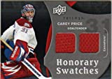 2009-10 Upper Deck Trilogy Honorary Swatches #HSCP Carey Price Jersey - NM
