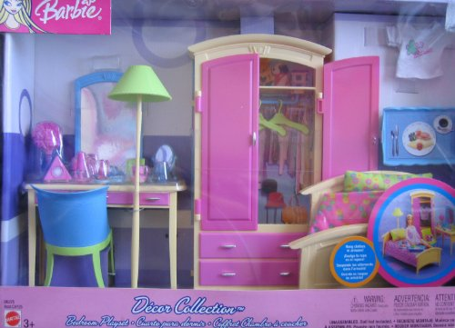 Barbie Decor Collection BEDROOM Playset - Multi-Lingual Box