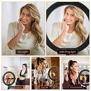 Comprar Aro de luz con trípode para fotografía, maquillaje y videos de Tiktok. Perfecto para sesiones en vivo en redes sociales e Youtube.