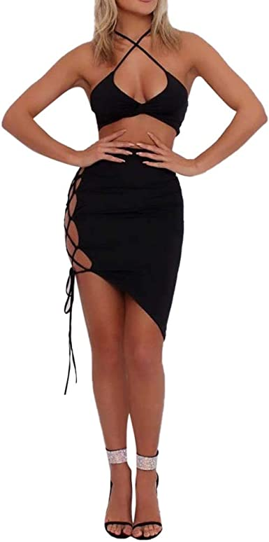 Vestidos Mujeres, SUNNSEAN Color Sólido Crop Top Strapless Blusa ...