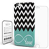Phone Case Protectivedesign Hard Back Case Love Infinity Chevron Zig Zag Ripple Black