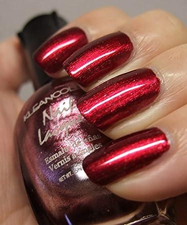 KleanColor Nail Polish Lacquer Metallic Red Top Coat Clean Manicure Klean Color