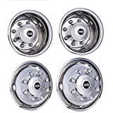 Pacific Dualies 33-1950 Polished 19.5 Inch 8 Lug Stainless Steel Wheel Stimulator Kit for 2003-2014 Chevy GMC 4500/5500/6500 Truck 1990-2012 Ford F650