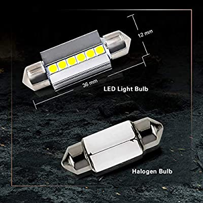 LASFIT 36MM 6418 6411 DE3423 LED Dome Map Trunk License Plate Light Bulb, 6000K White Light(2pcs): Automotive