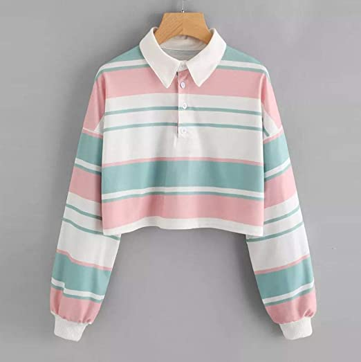 60%OFF Sweatshirt Kolylong Damen Elegant Regenbogen