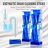 LiebHome Drain sticks/drain pipes cleaning/Keep Your Drains Clear and Odor-Free 2 pack (24 sticks) blue