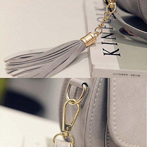nappa frizioni Bag semplice Messenger in con grigio tracolla a Fashion borsa Mini Carino piccolo donna Pu Delidraw pelle qRfZW