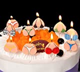 Toys : Astra Gourmet Funny Bikini Tops & Bottoms Adult Party Candles - Cute Novelty & Gag Birthday Cake Topper Decorations - 10PCS