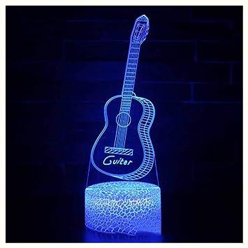 XHX Luces nocturnas 3D, serie de guitarra Luces nocturnas 3D ...