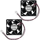 2packs 50mm x 50mm x 20mm 5020 12V 0.30A Ball Bearing Brushless DC Cooling Fan 2pin AB5020H12 UL TUV