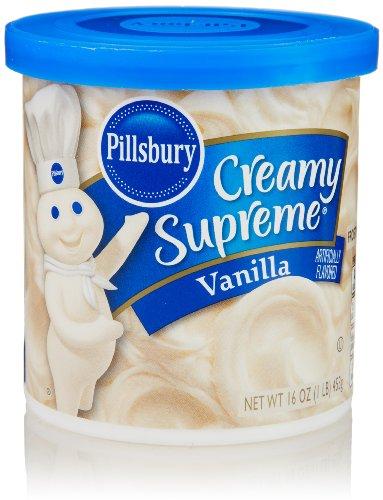 Frosting Cream Butter - Pillsbury Creamy Supreme Frosting, Vanilla Flavor, 16 Oz