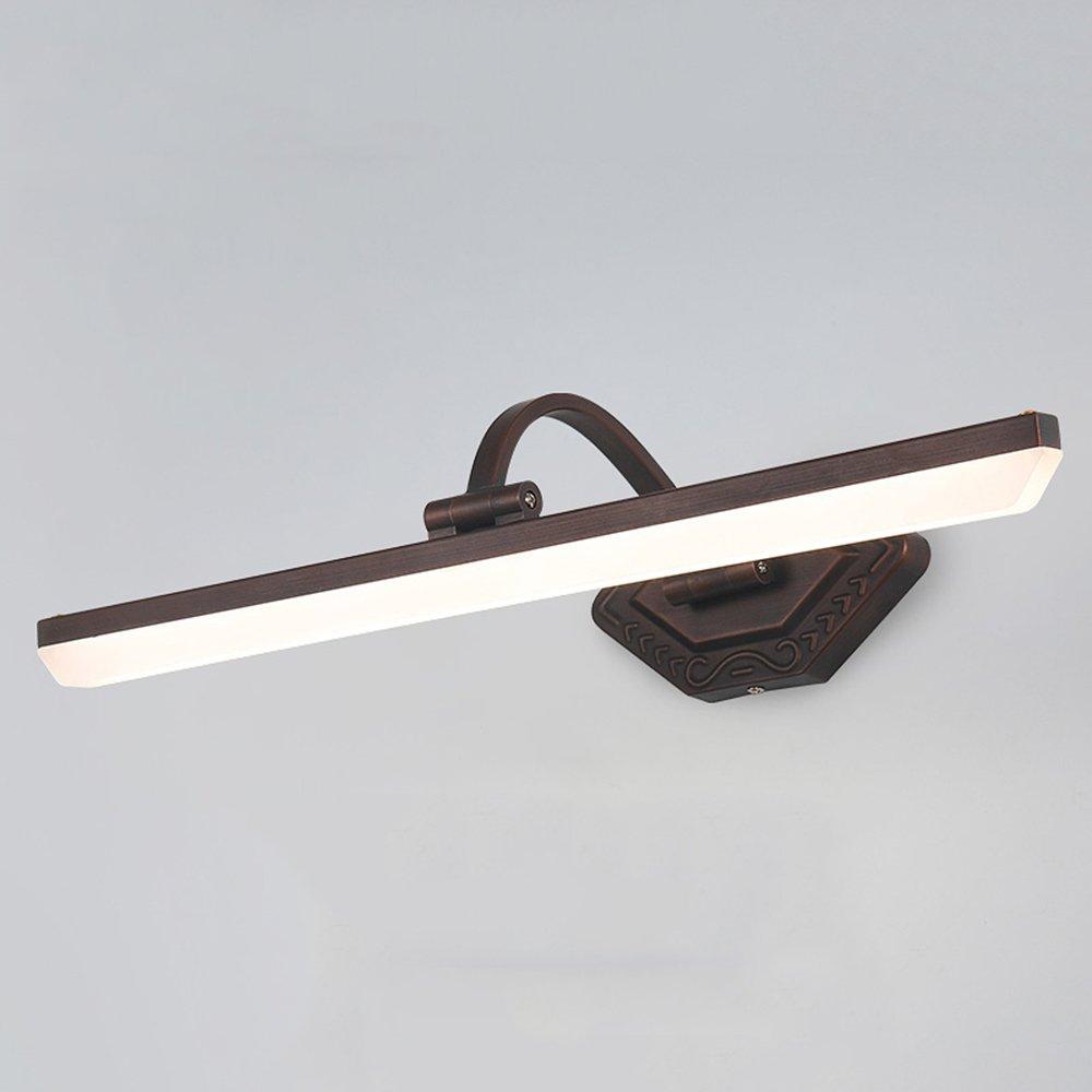 GLJF Spiegel-Scheinwerfer-Spiegel-vordere Lampe Amerikanisches Retro- Badezimmer-LED Badezimmer-nordischer Spiegel-Kabinett-Licht-freie lochende Badezimmer-Verfassungs-Lampe (Größe   52.5cm)